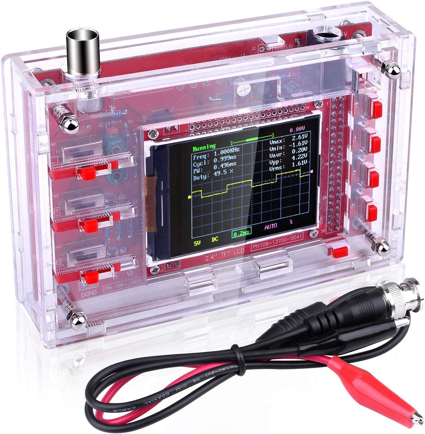 """sonde CASE assemblés DSO138 2.4/"""" TFT Digital Oscilloscope Kit À faire soi-même module"""