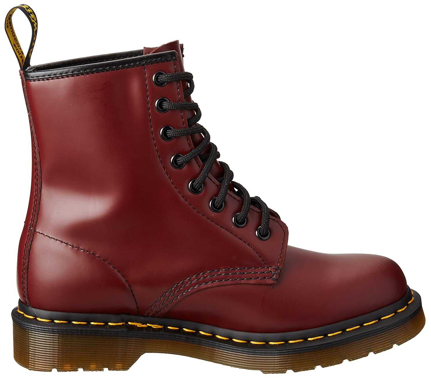 Dr. Martens Men's 1460 Combat Boot, 8.5 B(M) US Women/7.5 D(M) US Men B00178URXY 7 M US/ 5 UK|Cherry Red Rouge Smooth