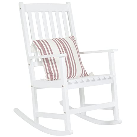 Best Choice Products Outdoor Indoor Wood Rocking Chair Patio Porch Rocker  (White)