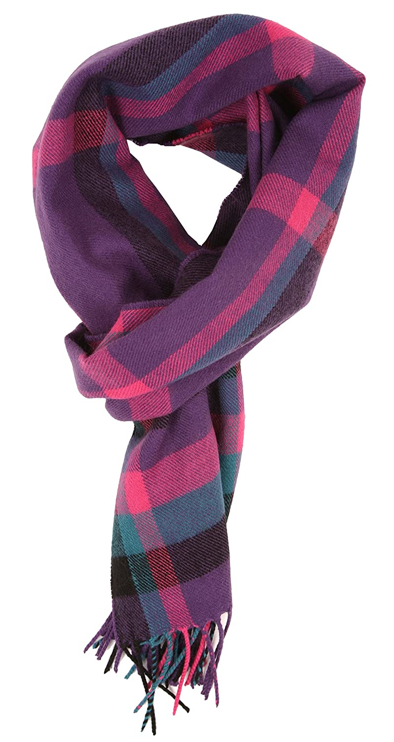 Love Lakeside-Women's Cashmere Feel Winter Plaid Scarf (One, 12-2 Brown Buffalo Check)