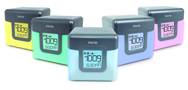 Amazon.com: iHome Bluetooth Color Changing Dual Alarm Clock FM Radio ...