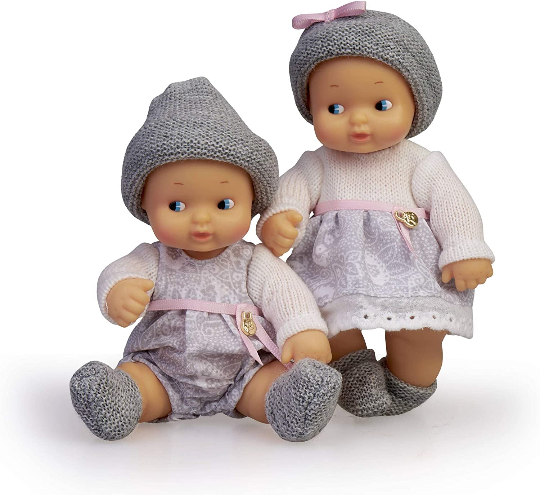 Barriguitas- Bebés Gemelos, muñeca Twins niño y niña (Famosa 700015789)