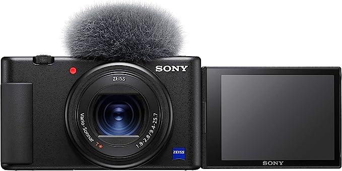 Sony Vlog camera ZV-1   Digital Camera (Vari-angle Screen for Vlogging, 4K Video),ZV1BDI.EU,Black