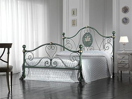 Letto Matrimoniale Ferro.Bed Store Letto Matrimoniale In Ferro Battuto Modello Caterina Verde