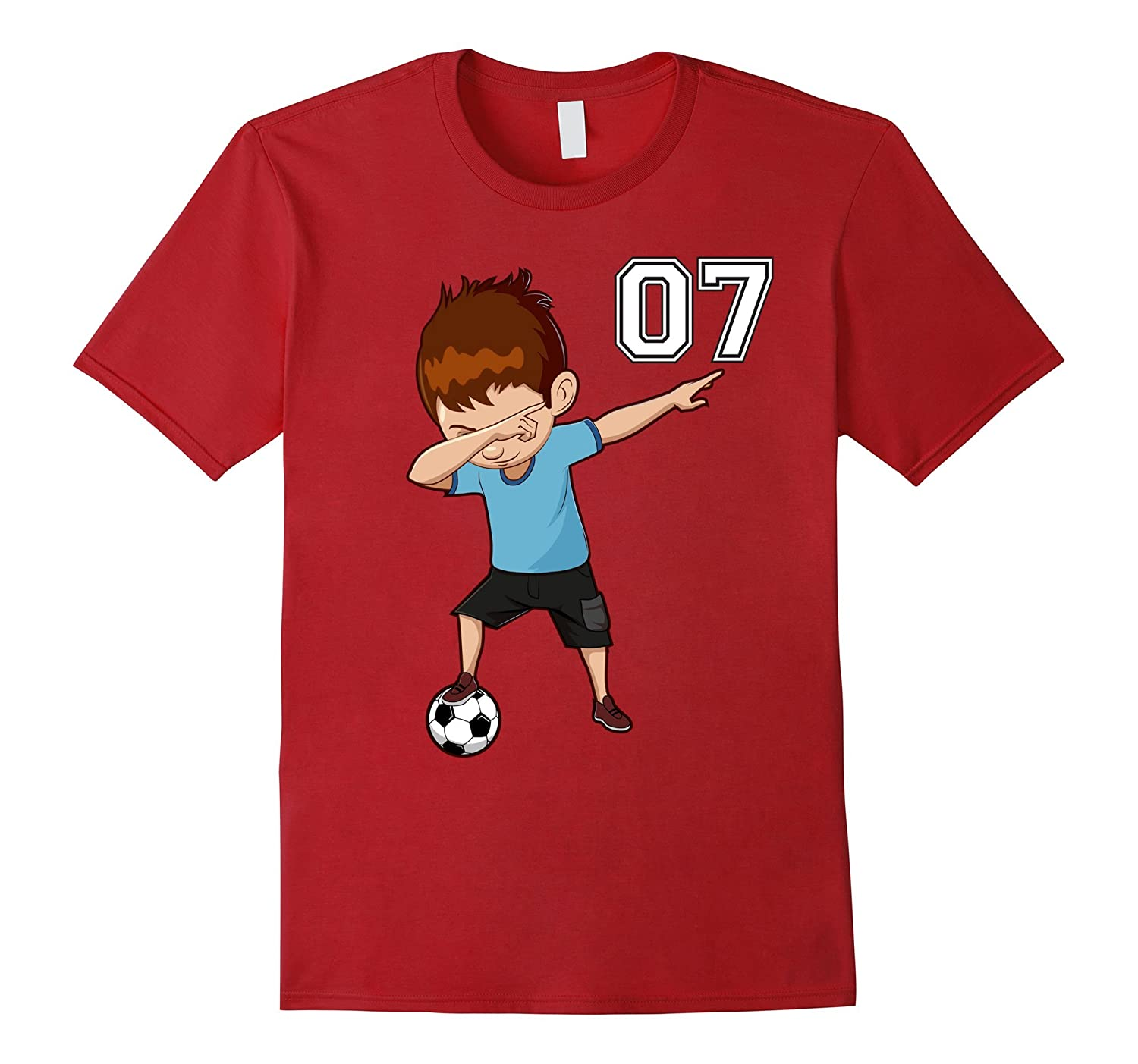 #7 Soccer Shirt for Boys Funny Dabbing Dab Dance Soccer Ball-Art