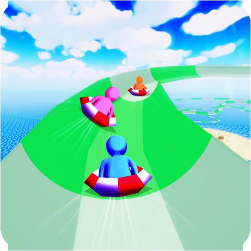 (Aqua Park WaterSplash Racing - Water Slippy Slide Race)