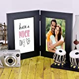 ValueAdds V A International Synthetic Polymer Wooden Photo Frame (Black) - Set of 2 Pieces
