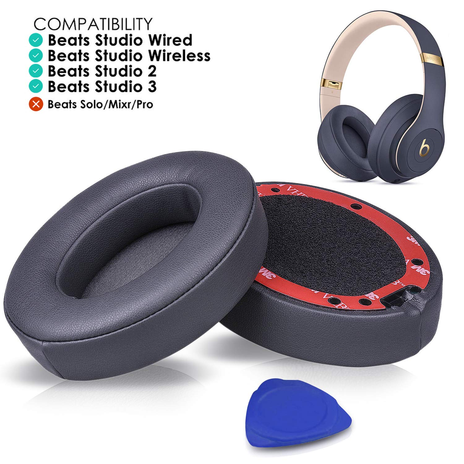 Almohadillas Auriculares Beats Studio 2.0/3 Wired Gris (xsr)