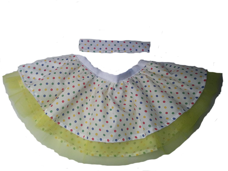 children in need tutu multi colour polka dot size 12
