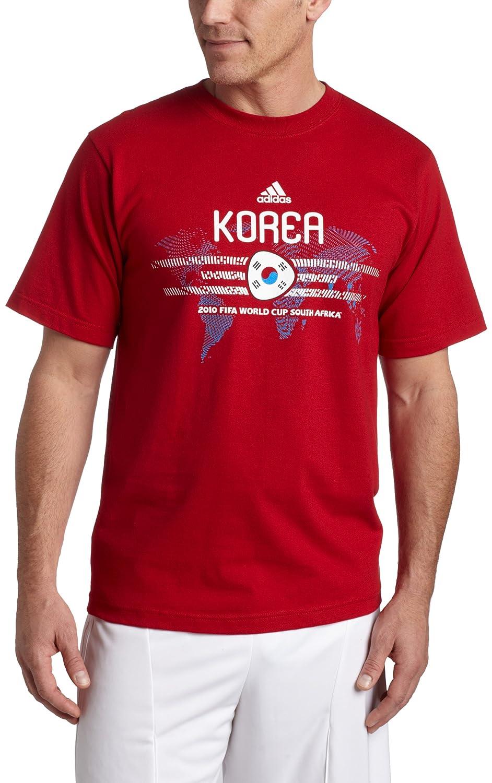 adidas Corea Camiseta de fútbol Copa del Mundo 2010, Hombre, University Red/Korea: Amazon.es: Ropa y accesorios