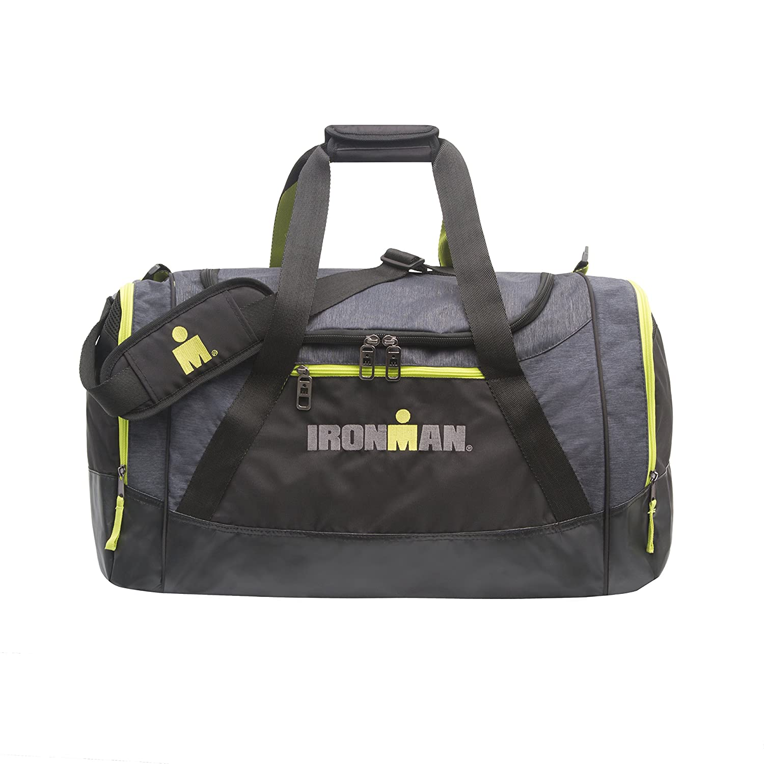 IRONMAN 21 24 Inch Sports Duffle Gym Bag with Floating Shoe Pocket