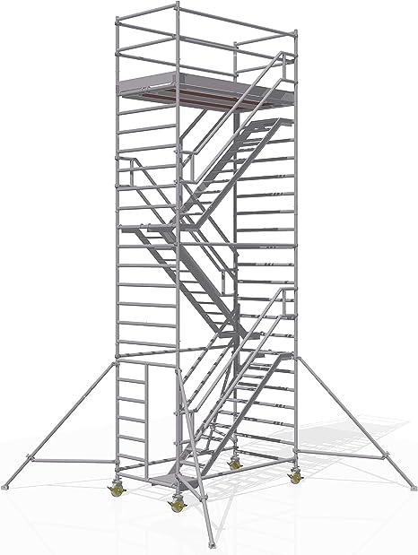 ALTEC - Torre para escaleras (2,5 m x 1,3 m) fabricada en Alemania ...