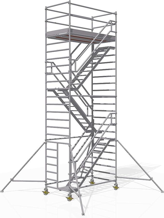 Altec - Torre de escaleras (2,5 x 1,3 m, contracente, 8,2 m): Amazon.es: Bricolaje y herramientas