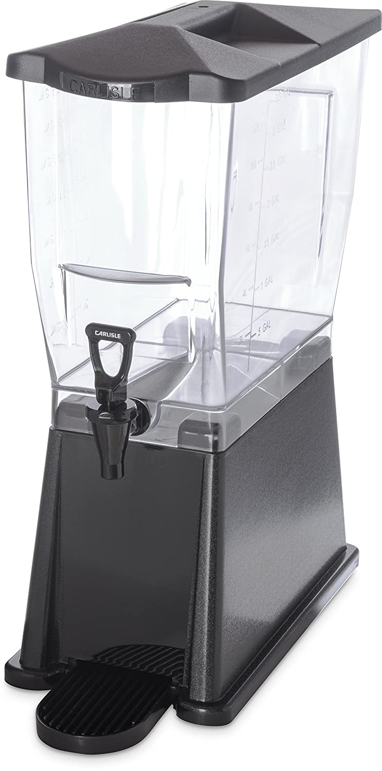 Carlisle 1085003 TrimLine Clear Premium Single Base, 3.5 gal. Capacity, Black