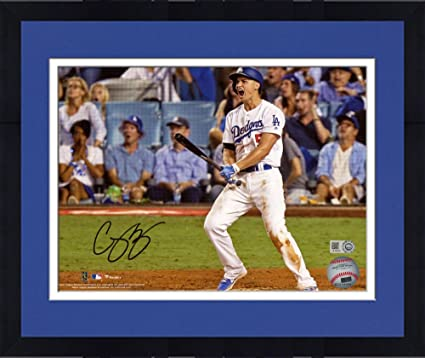 f8f7187bd Framed Corey Seager Los Angeles Dodgers Autographed 8 quot  x 10 quot   Celebrating Home Run Photograph