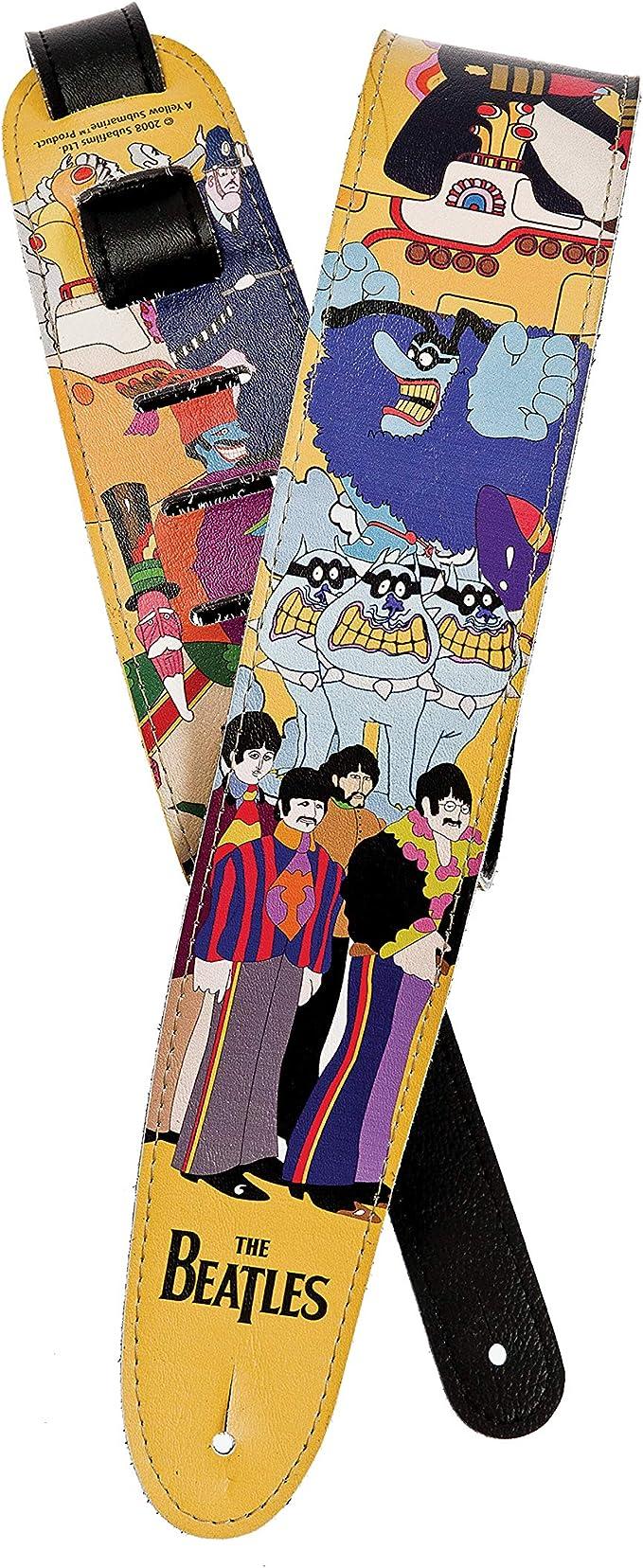 Correa para guitarra de polipropileno negro The Beatles