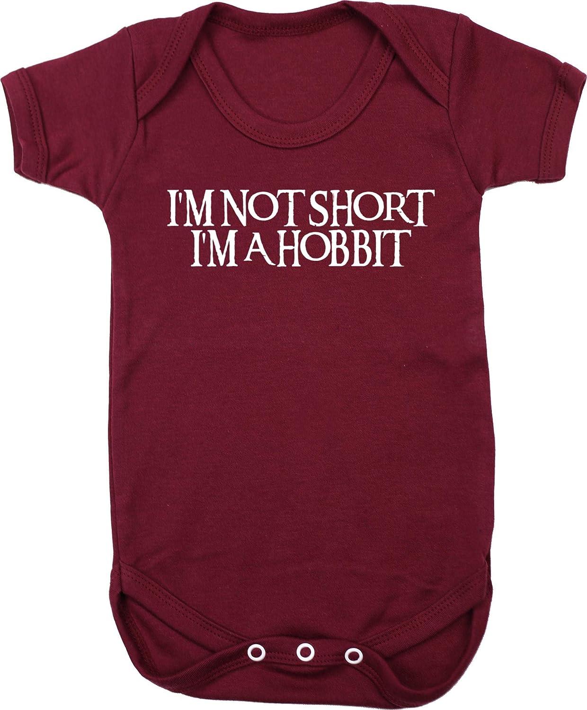 Short Sleeve Hippowarehouse Im not Short Im a Hobbit Baby Vest Bodysuit Boys Girls