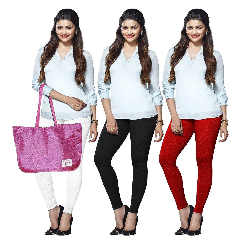 Lux Lyra Women's cotton Bottom (Pack of 3) (LYRA_AL_10_11_12_3PC_ black_...