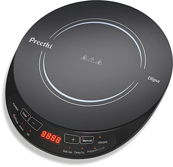 Preethi Indicook Induction Cooktop - Ellipse - 2000 watts Induction Cooktops at amazon