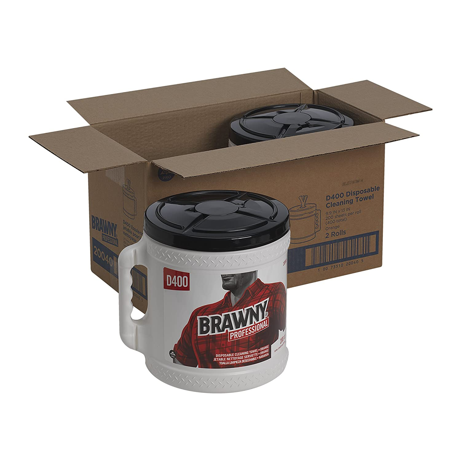 Amazon.com: GP Brawny Professional D400 Disposable Cleaning Towel, Bucket, Oatmeal: Home Improvement
