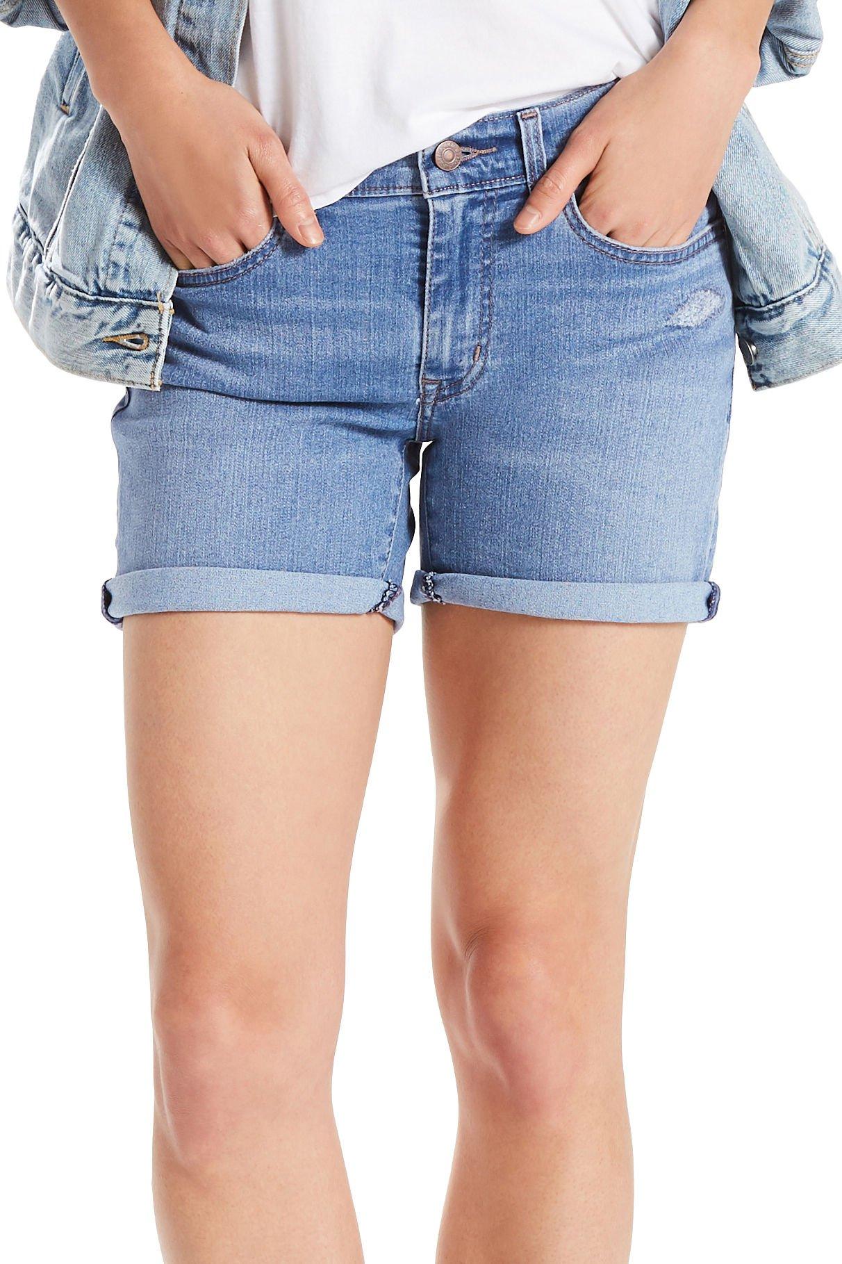 Levi's Women's Mid Length Shorts, Ready Set Indigo, 31 (US 12)