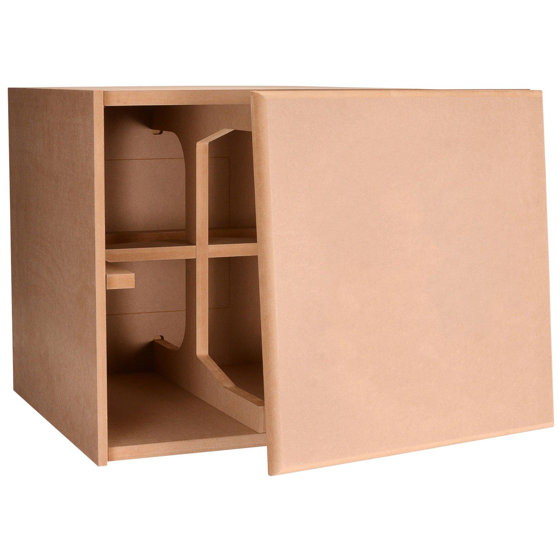 Knock-Down MDF 3.0 cu. ft. Cubic Foot Subwoofer Cabinet