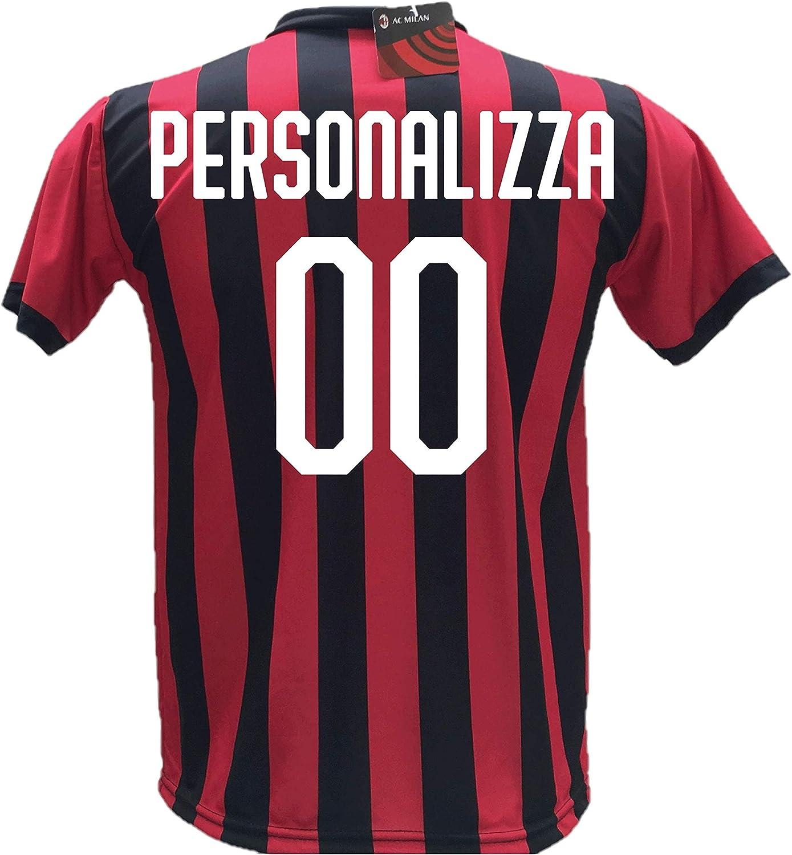 Taglie 2 4 6 8 10 12 S M L XL Adulto Maglia Calcio Milan ...