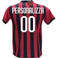 Maglia Calcio Milan Personalizzabile Replica Autorizzata 2018-2019 Bambino (Taglie 2 4 6 8 10 12) Adulto (S M L XL)