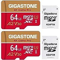 Gigastone 64GB 2-Pack Micro SD Card, 4K Game Pro, Professional 4K Ultra HD, High Speed 4K UHD Gaming, Micro SDXC UHS-I…