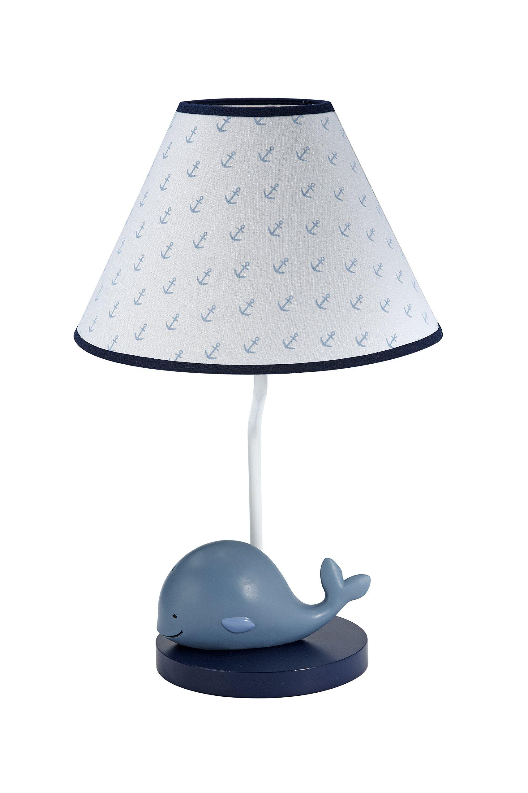 Nautica Kids Brody Nautical/Whale Lamp Base and Shade, Blue/Light Blue/White by Nautica