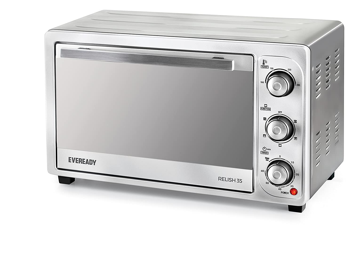 Eveready Relish 35 1500-Watt Oven Toaster Grill (Silver)