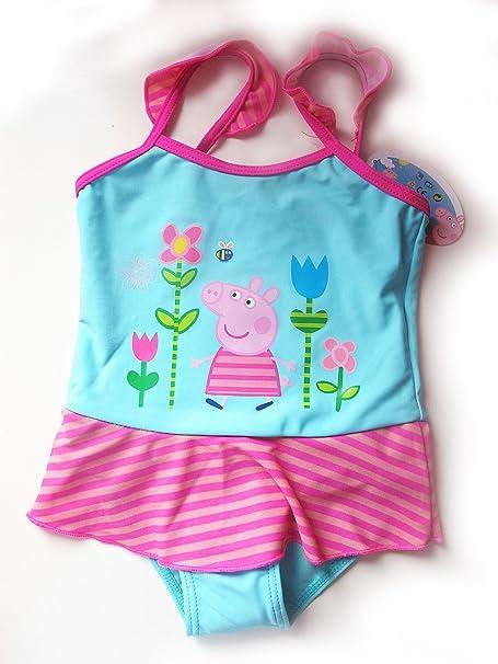 New 2-7Y ropa de descanso para niñas Peppa Pig turquesa Bañador ...