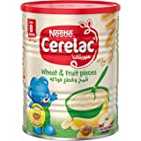 Nestle Cerelac Infant Cereal Wheat & Fruit Pieces Tin 400g