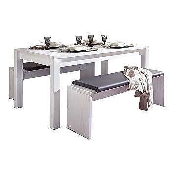 Stella Trading Esstisch Mit Auszieh Funktion Wohnzimmertisch Tisch Landhaus  Ohne Stühle, Holz, Weiß