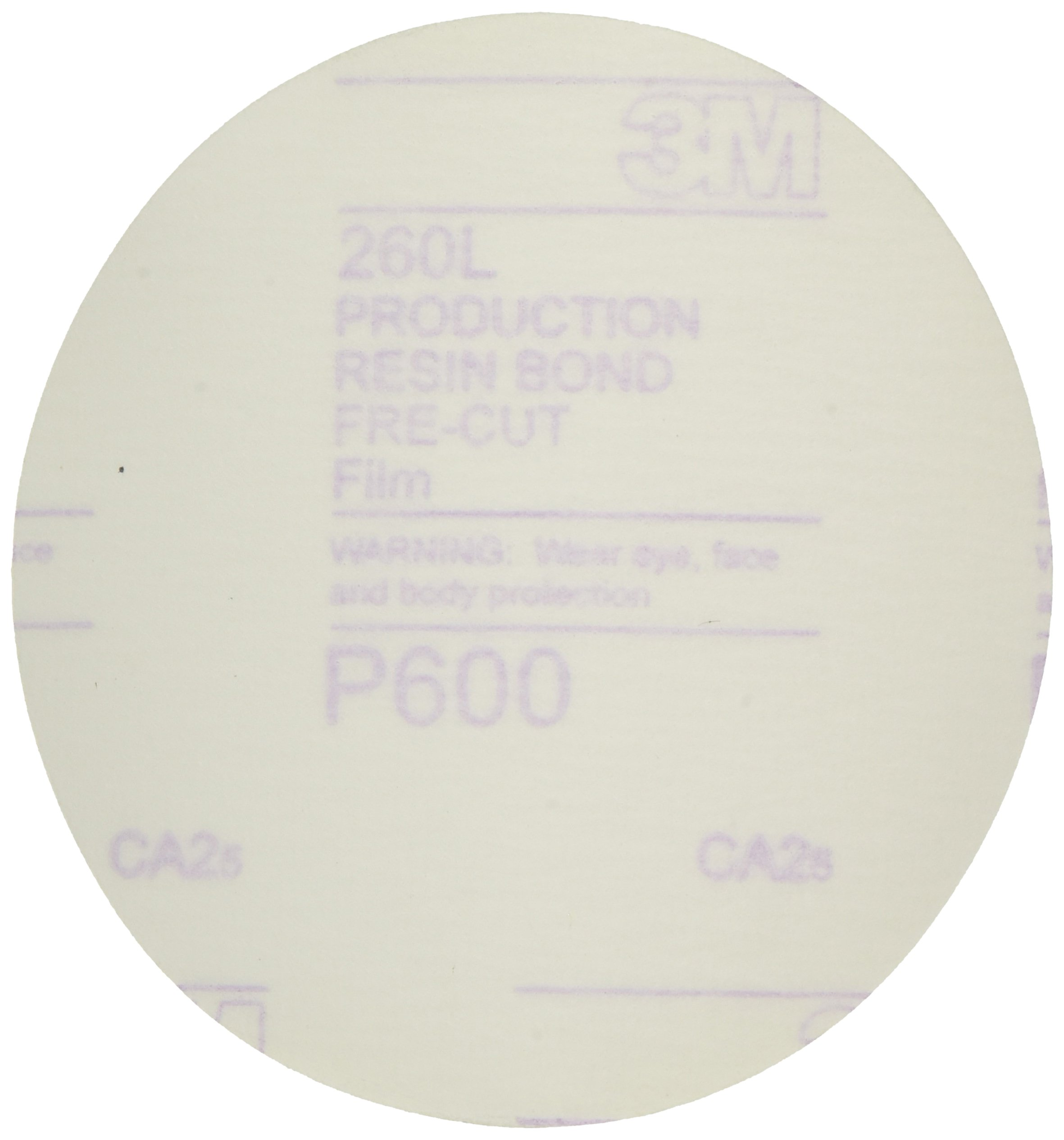 3M 00955 Hookit 5'' P600 Grit Finishing Film Disc
