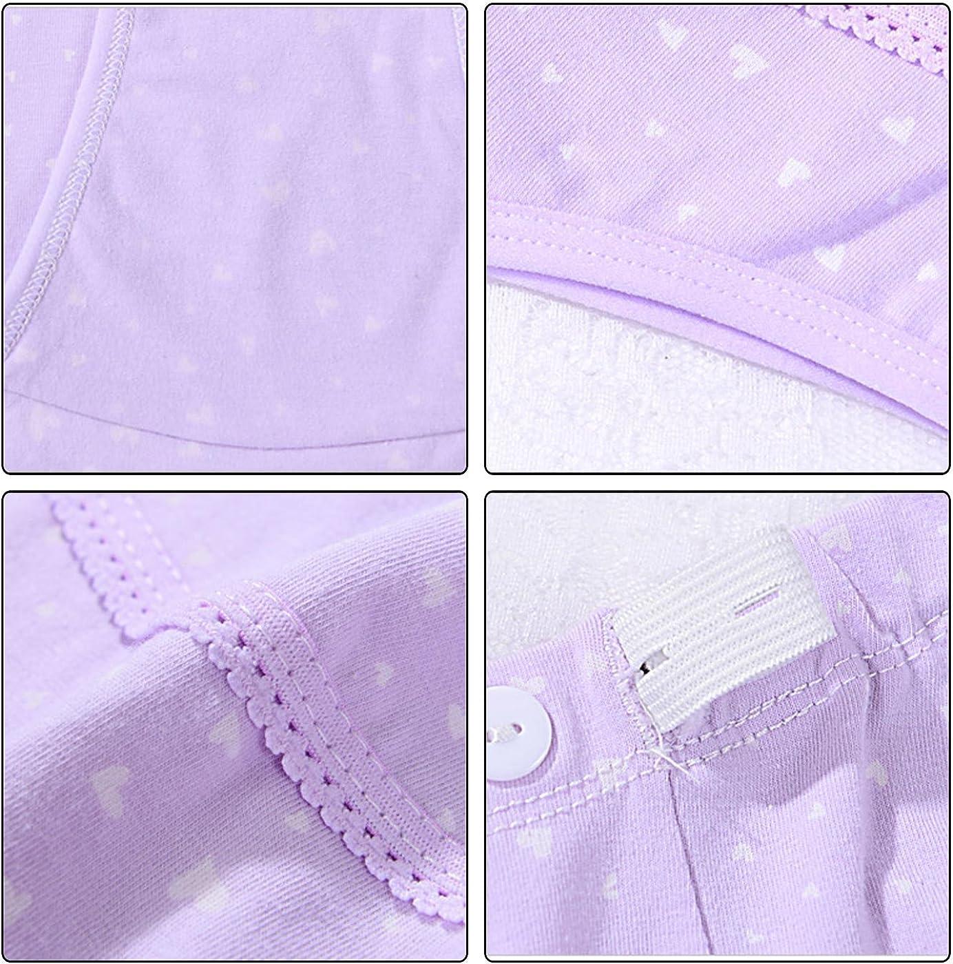 Feoya Mujer Bragas Maternidad Algod/ón para Embarazadas Calzoncillo Ajustable de Pre-mam/á Cintura Alta Apoyo el Vientre Pregnant Underwear Paquete de 3 Patr/ón Corazones P/úrpura//Rosa//Amarillo XXL