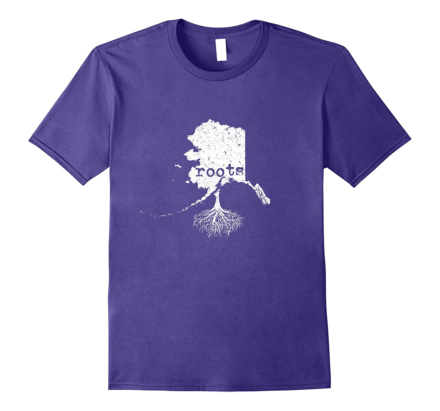 Alaska Roots Distressed Alaska State T-shirt-PL