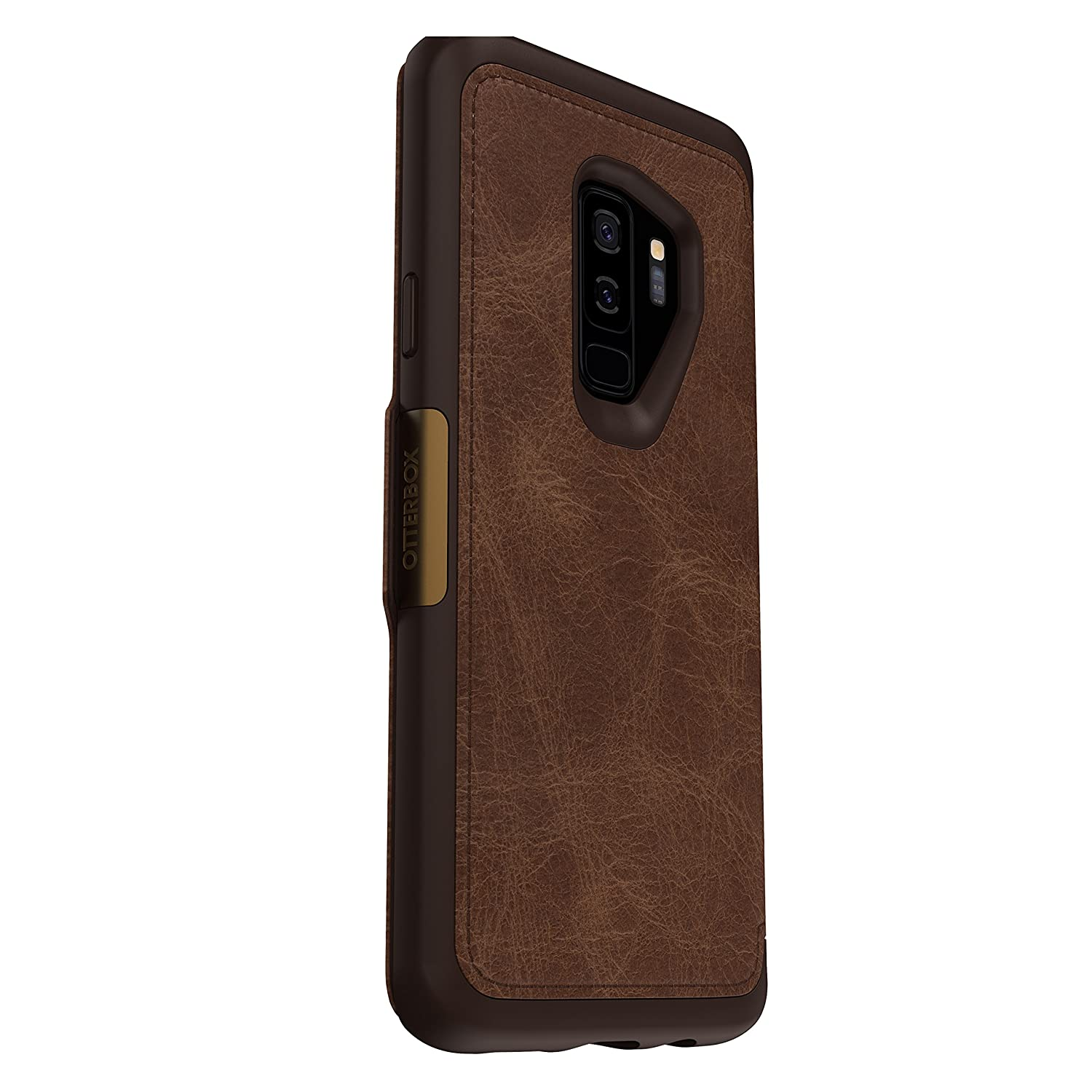 online store 7f975 1c043 OtterBox STRADA SERIES Case for Samsung Galaxy S9+ - Retail Packaging -  ESPRESSO (DARK BROWN/WORN BROWN LEATHER)