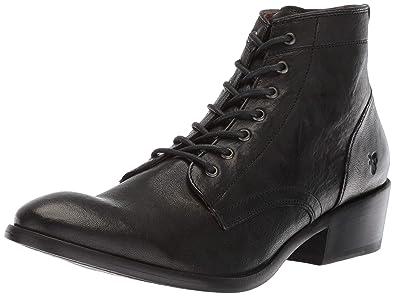 b4d28aabf6 FRYE Women's Carson Lace Up Combat Boot, Black Antique Soft Vintage, ...