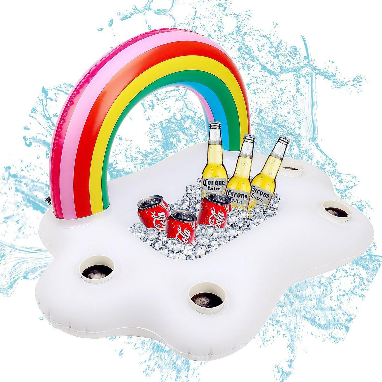 Aufblasbarer Getränkehalter Regenbogen-Wolke Getränkehalter ...