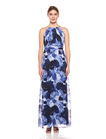 Sangria Women\'s Floral Chiffon Gown at Amazon Women\'s Clothing store: