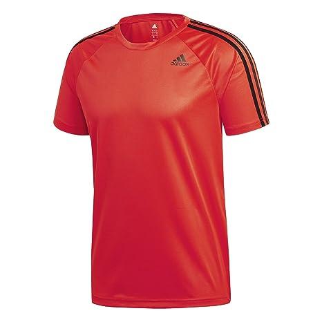 Adidas D2M tee 3S Camiseta, Hombre, (Rojo), 2XL