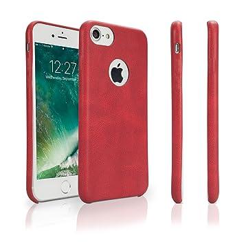 Apple iPhone 7 caso, BoxWave® [funda de piel carcasa con ...