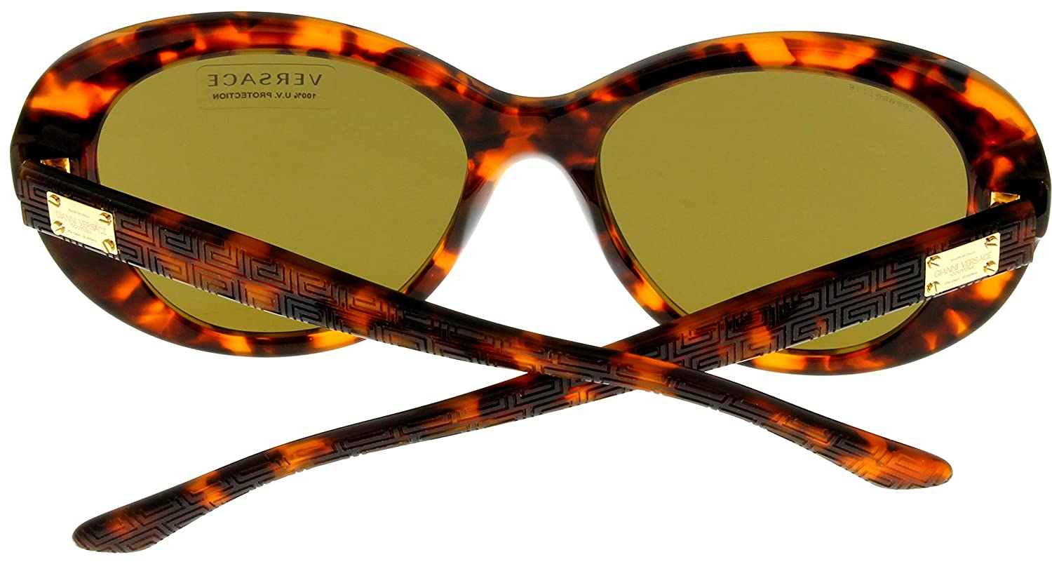 950104c49b398 Amazon.com  Versace Sunglasses Women Havana Cat Eye 100% UV Protection  VE4273 507473  Clothing