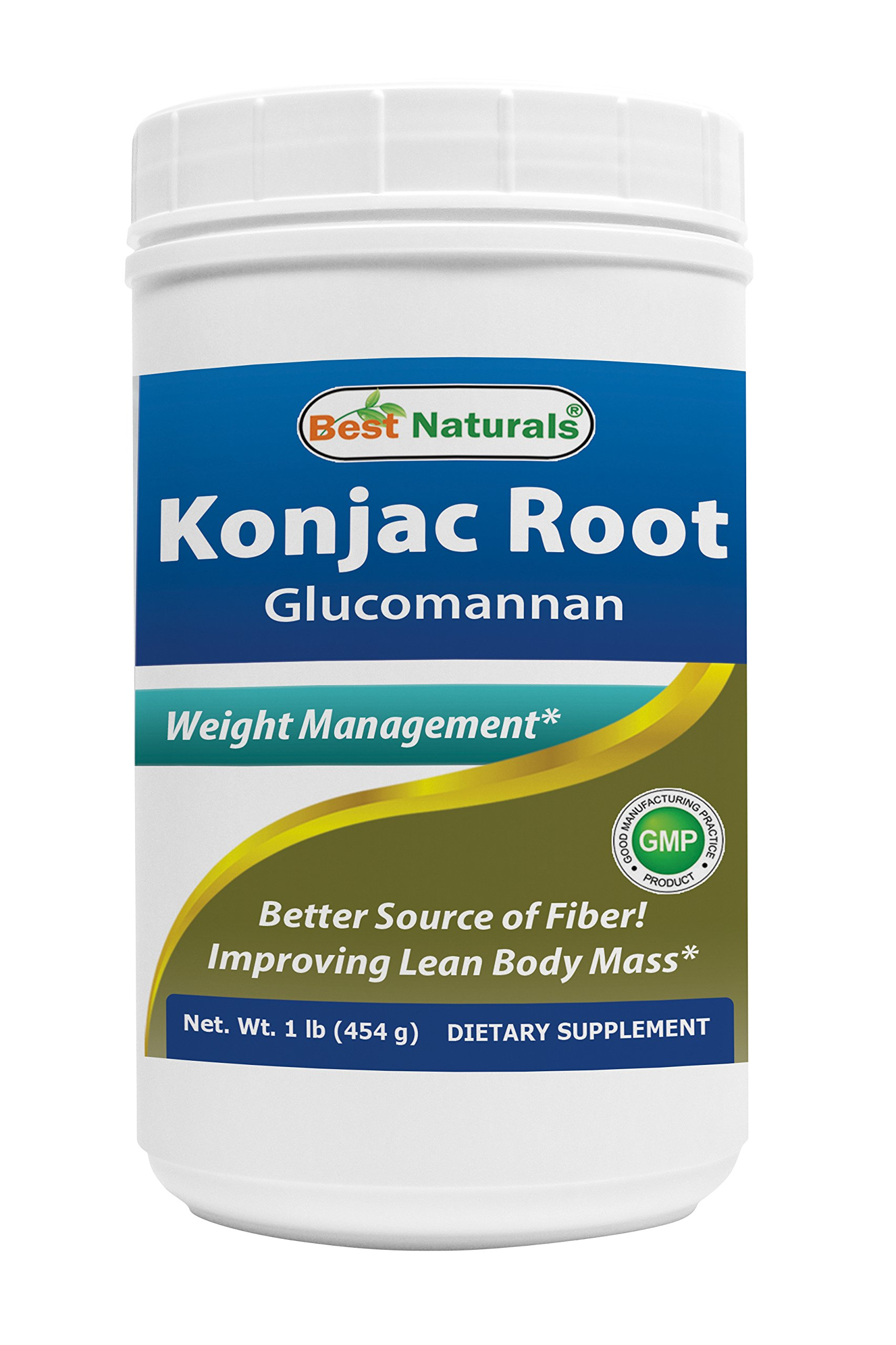 Best Naturals Glucomannan Weight Loss Pure Powder from Konjac Root, 1 Pound - 100% Natural Weight Loss Diet Powder That Really Work Fast - Best Appetite Suppressant - Boosts Metabolism
