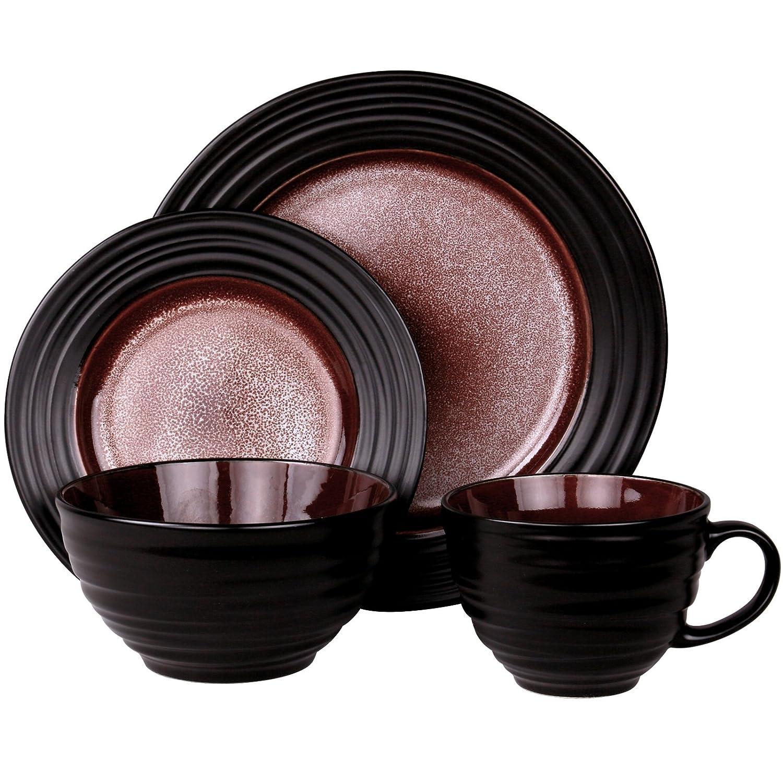 16pc Elama EL-LIANA16 Liana 16 Stoneware Dinnerware Set