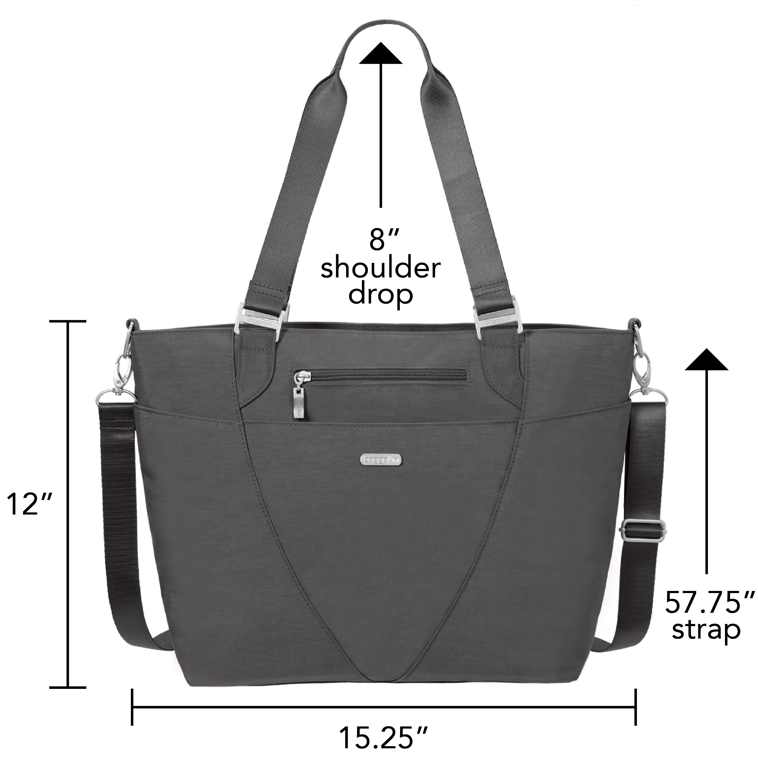 Baggallini Avenue Travel Tote, Charcoal, One Size by Baggallini (Image #3)