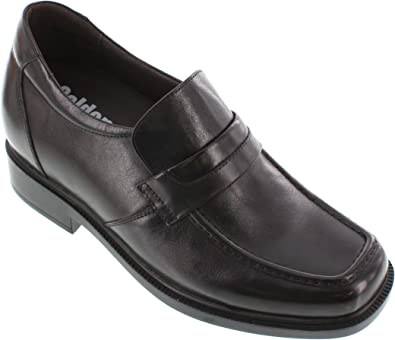 Black Leather Slip-on Wide Fit Casual