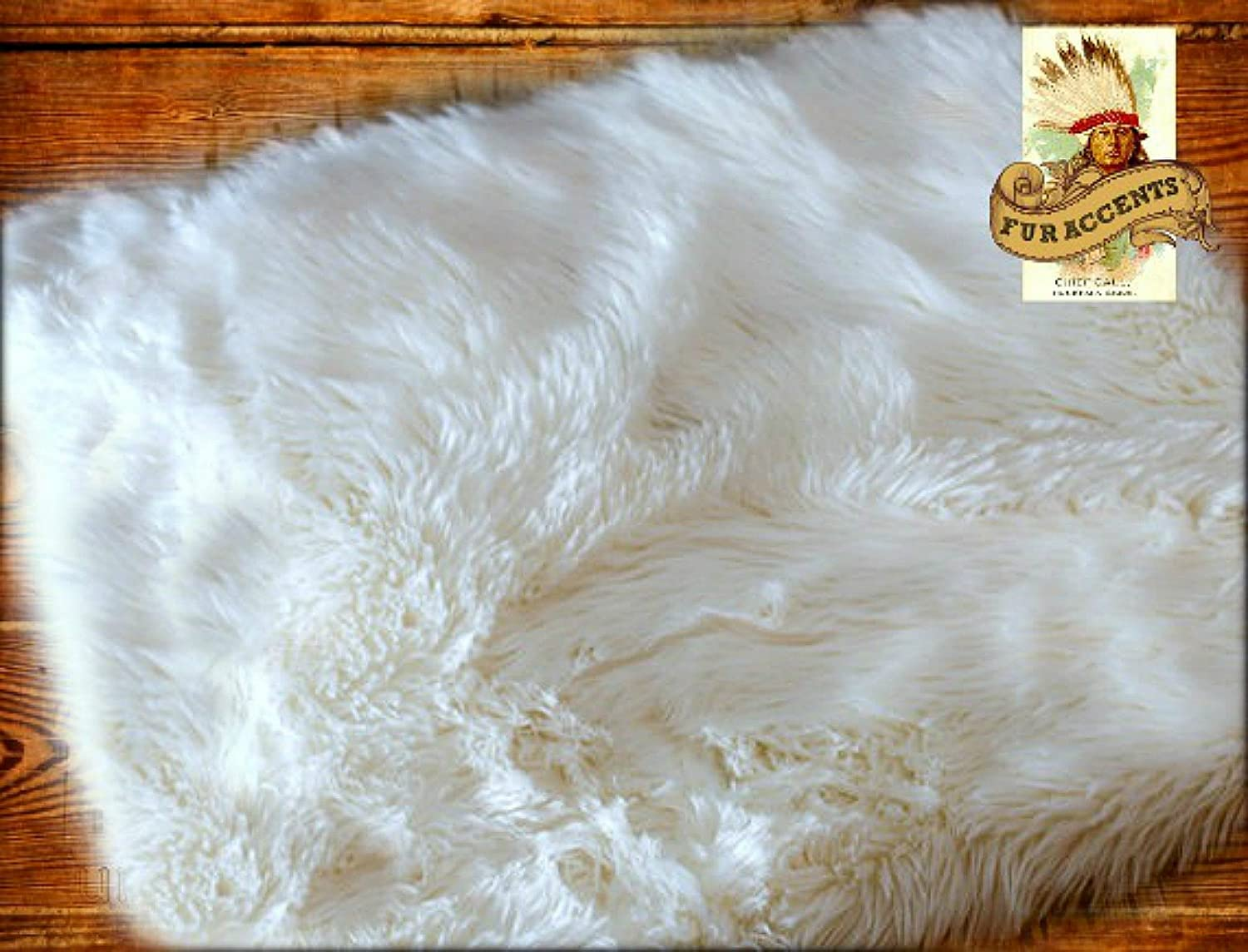 amazoncom 3x5 off white faux fur accent rug fake sheepskin soft as fleece available in other colors and sizes new kitchen u0026 dining