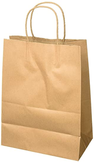 Amazon Com 8 X4 75 X10 50 Pcs Brown Kraft Paper Bags Shopping